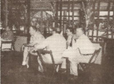 Col Wilson, Joseph Ada (back to Camera), Charles Elliott, J. Torres