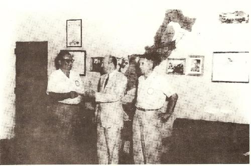 PP Ray with Governor Barrett Lowe and Rtn. Al Minot on 24 November 1957