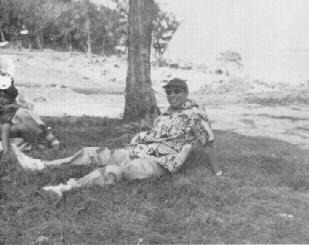 Past Pres. Joe Perez, in his customary work pose.