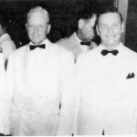 Adm. Christopher, Gov. Ford Eldridge, Rtns. Norm Flockman and B. Umayam at a cocktail party.